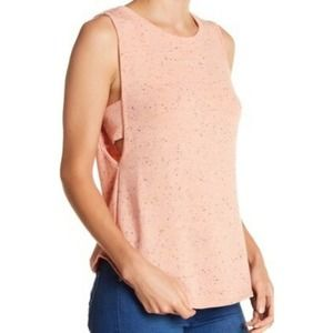 Melrose and Market tank top coral nepped fleece